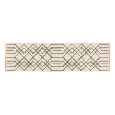 Duna Handmade Kilim Wool Gris Area Rug Rug Size: Runner 34 x 132