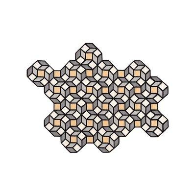 Parquet Handmade Kilim Wool Yellow/Gray Area Rug Rug Size: Rhomb 64 x 84