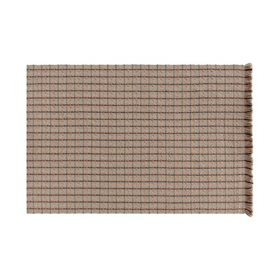 Garden Layers Checks Brown Indoor/Outdoor Area Rug Rug Size: Rectangle 511 x 711