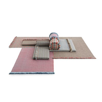 Garden Layers Diagonal Gray/Red Indoor/Outdoor Area Rug Rug Size: Rectangle 411 x 68