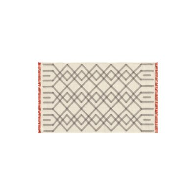 Duna Handmade Kilim Wool Gris Area Rug Rug Size: Rectangle 28 x 49
