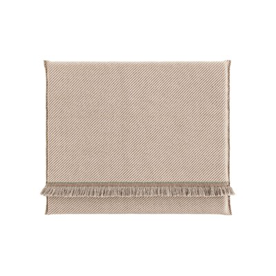 Garden Layers Diagonal Outdoor Floor Pillow Color: Almond/Ivory