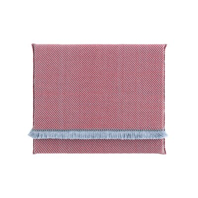 Garden Layers Diagonal Outdoor Floor Pillow Color: Almond/Red