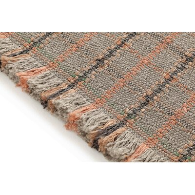 Garden Layers Tartan Terracotta/Brown Indoor/Outdoor Area Rug Rug Size: Rectangle 411 x 68