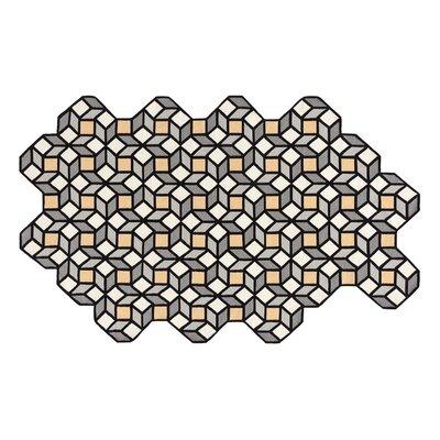 Parquet Handmade Kilim Wool Yellow/Gray Area Rug Rug Size: Rhomb 64 x 103