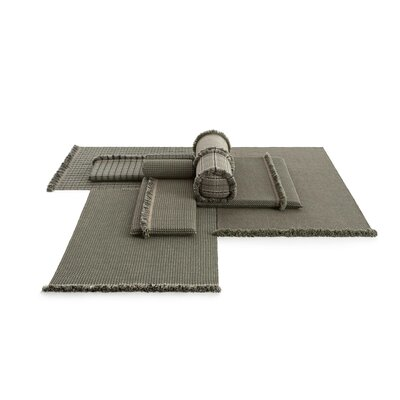 Garden Layers Checks Brown Indoor/Outdoor Area Rug Rug Size: Rectangle 411 x 68