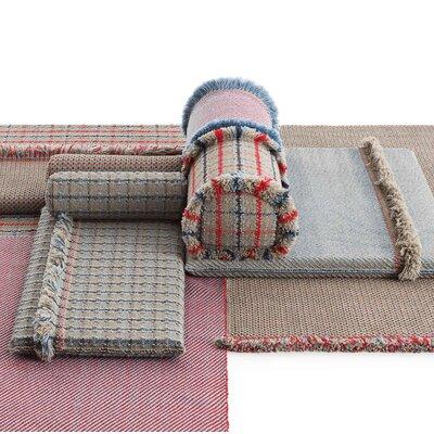 Garden Layers Diagonal Outdoor Bolster Color: Almond/Red