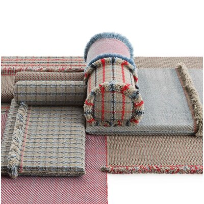 Garden Layers Tartan Outdoor Bolster Color: Blue