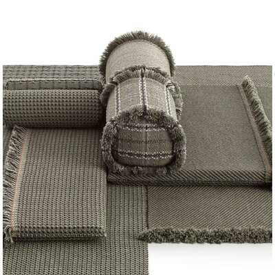 Garden Layers Checks Outdoor Throw Pillow Color: Green