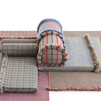 Garden Layers Diagonal Outdoor Euro Pillow Color: Almond/Peach