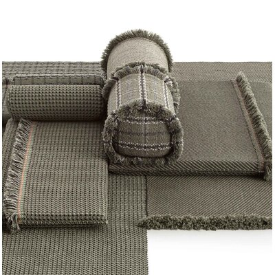 Garden Layers Tartan Outdoor Euro Pillow Color: Green