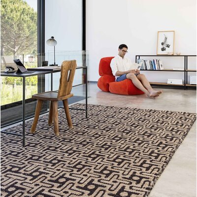 Twiggy Handmade Kilim Black/Brown Area Rug Rug Size: Rectangle 57 x 711