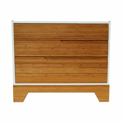 Rent to own IoLine 3 Drawer Dresser Finish: Whi...