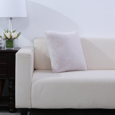Grace Fashion Fur Throw pillow Color: Moonbeam