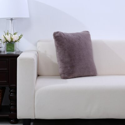 Grace Fashion Fur Throw pillow Color: Desert Taupe