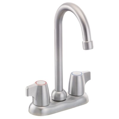 Chateau Double Handle Kitchen Faucet Finish: Brushed Chrome