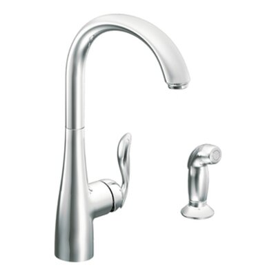 Arbor Single Handle Kitchen Faucet with Side Spray Finish: Chrome