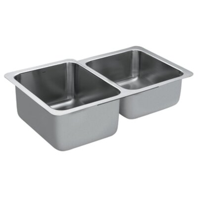 1800 Series 32 x 20.66 Double Bowl Kitchen Sink