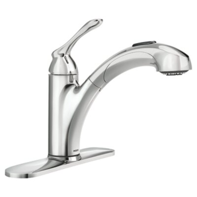 Banbury Single Handle Deck mounted Kitchen Faucet Finish: Chrome