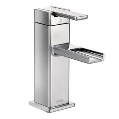 90 Degree Single Handle Single Hole Bathroom Faucet with Drain Finish: Chrome