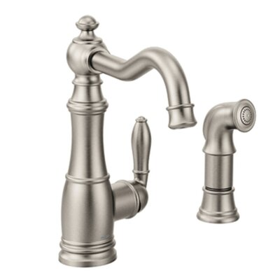 Weymouth Single Handle Pull Down Kitchen Faucet Finish: Spot Resist Stainless