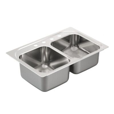 2000 Series Double Bowl Drop-In Kitchen Sink