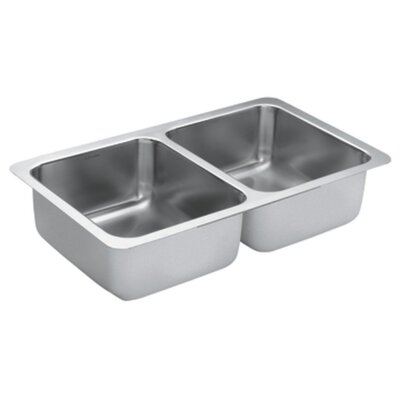 1800 Series 31.25 x 18 Double Bowl Kitchen Sink