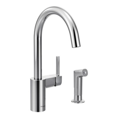 Align Single Handle Kitchen Faucet with Side Spray Finish: Chrome