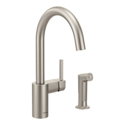 Align Single Handle Kitchen Faucet with Side Spray Finish: Spot Resist Stainless
