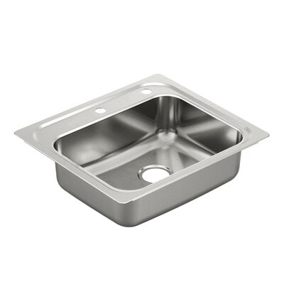2000 Series 25 x 22 1 Single Bowl Kitchen Sink