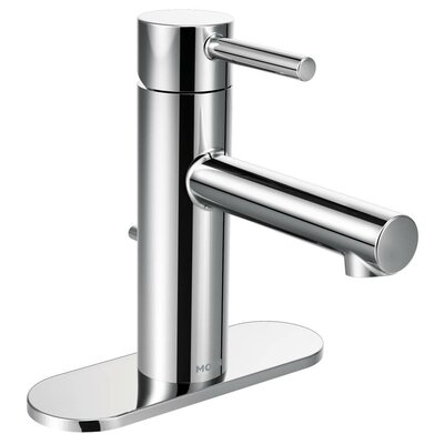 Align Single Handle Single Hole Bathroom Faucet with Drain Finish: Chrome