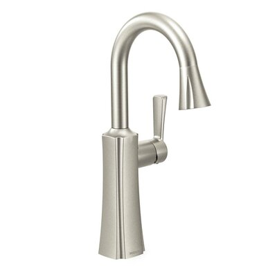 Etch Single Handle Single Hole Pulldown Bar Faucet