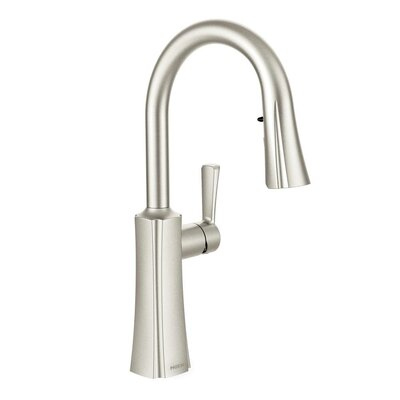 Etch Single Handle Single Hole Kitchen Faucet