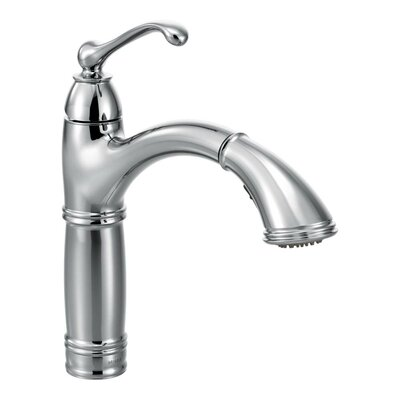 Brookshire Single Handle Single Hole Kitchen Faucet Finish: Chrome