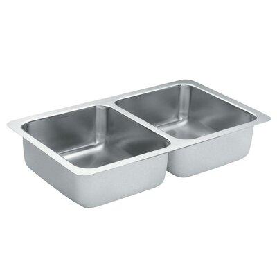 1800 Series 31.25 x 18 Double Bowl Kitchen Sink