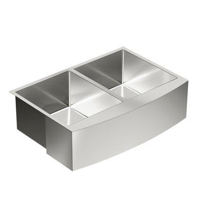 1800 Series 33 x 21 Double Bowl Kitchen Sink