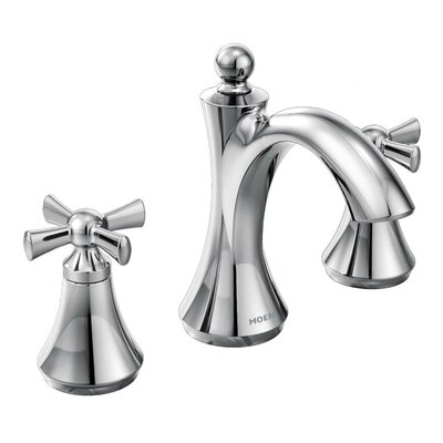 Wynford Double Handle High Arc Bathroom Faucet Finish: Chrome