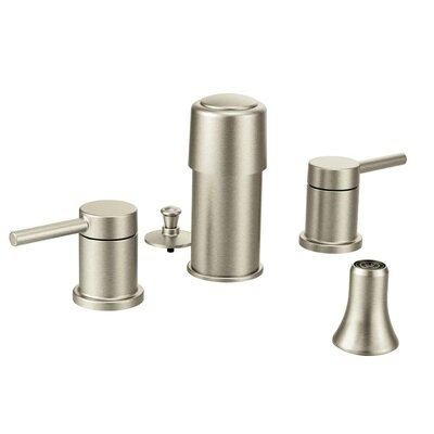 Align Double Handle Vertical Spray Bidet Faucet Finish: Brushed Nickel