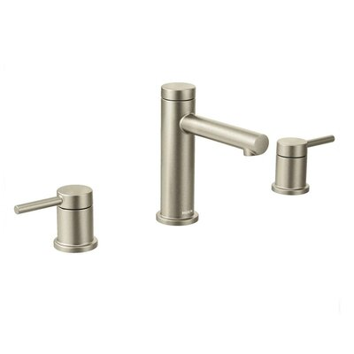 Align Double Handle Widespread Bathroom Faucet with Drain Finish: Brushed Nickel