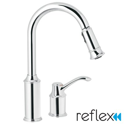 Aberdeen Single Handle Widespread  Kitchen Faucet Finish: Chrome