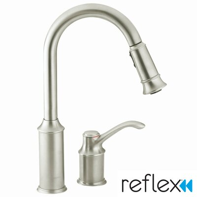 Aberdeen Single Handle Widespread  Kitchen Faucet Finish: Classic Stainless