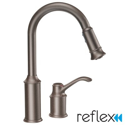 Aberdeen Pull Down Single Handle Kitchen Faucet Finish: Oil Rubbed Bronze