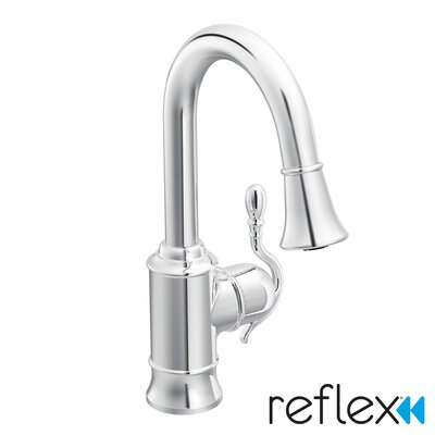 Woodmere Pull Down Single Handle Kitchen Faucet Finish: Chrome