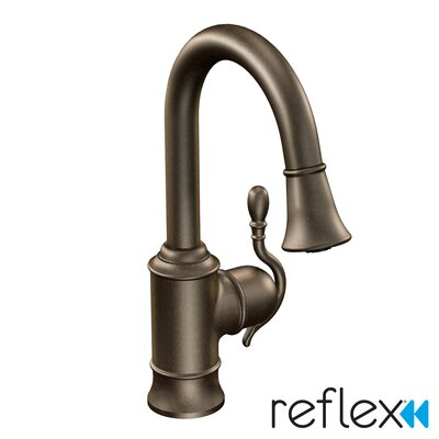 Woodmere Single Handle Single Hole Pull-Out Kitchen Faucet Finish: Oil Rubbed Bronze