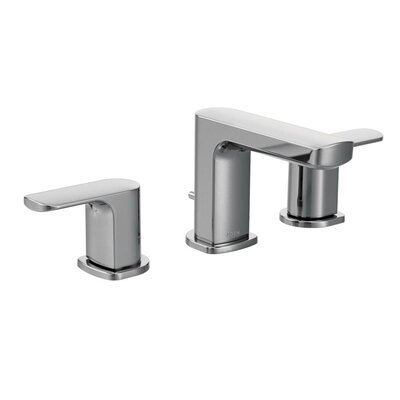 Rizon Widespread Double Handle Bathroom Faucet with Drain Assembly Finish: Chrome
