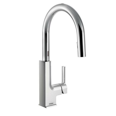STo Single Handle Pull Down Instant Cold Water Dispensers with Motion Sense Finish: Chrome
