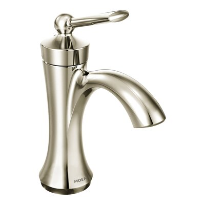 Wynford Single Handle Single Hole Bathroom Faucet with Drain Finish: Polished nickel