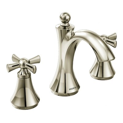 Wynford Double Handle High Arc Bathroom Faucet Finish: Polished nickel