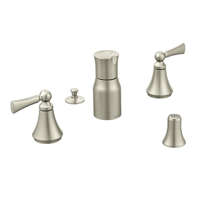 Wynford Double Handle Bidet Faucet Finish: Brushed Nickel