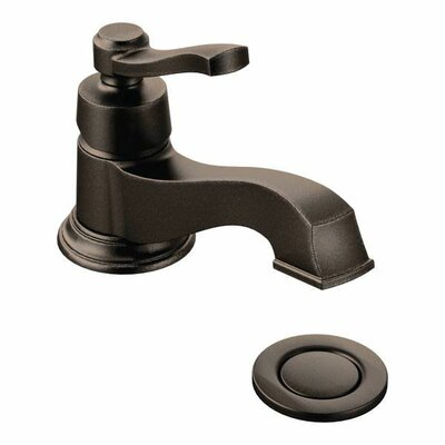 Rothbury Single Handle Single Hole Low Arc Bathroom Faucet with Drain Finish: Oil Rubbed Bronze